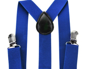 Kids blue suspenders AXY + blue fly - groomsmen - ring bearer outfit - photo-shooting - birthday