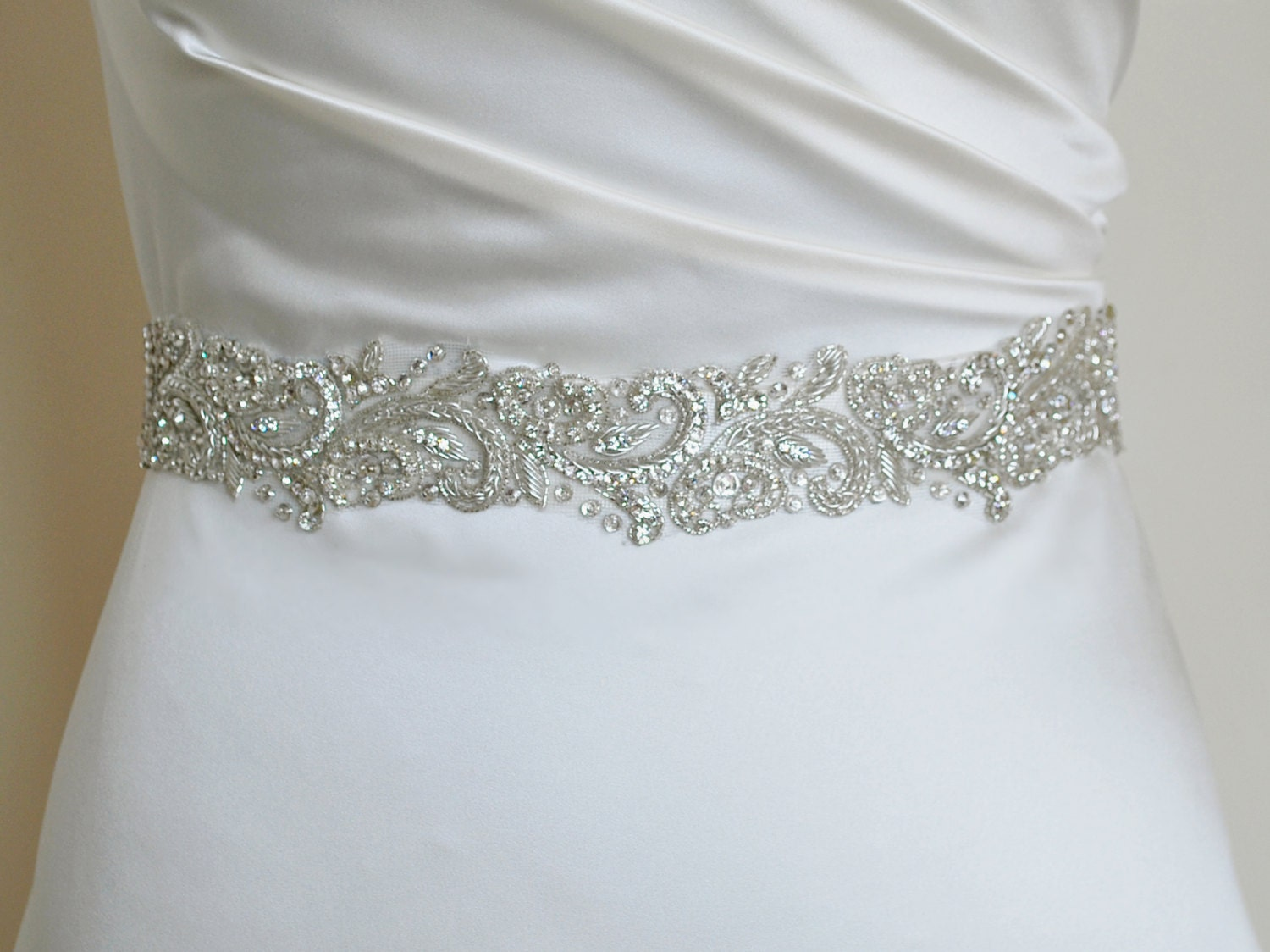 Luxury bridal belt silver wedding belt wedding dress for Belts for wedding dress