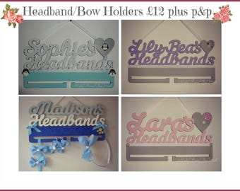 Personalised Headband Bow Clip Holders