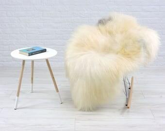 Luxury genuine Icelandic sheepskin rug natural color single 130cm x 85cm, G543