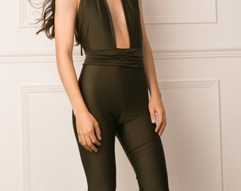 multiway jumpsuit with removable band.