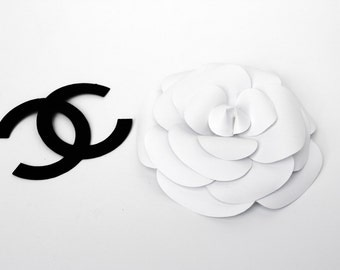 White Paper Camelia, Bridal Shower Decor, Table Flowers Decoration, White Paper Flowers, Eco Wedding, Paper Wedding Decor, Centerpiece