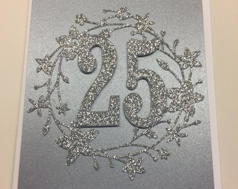 Anniversary Card, Twenty-fifth Anniversary, Wedding Anniversary