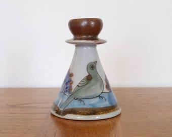 Ken Edwards Stoneware Candle Holder / Vase - Tonala Mexico Pottery