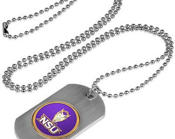 Northwestern State Demons Stainless Steel Dog Tag Necklace