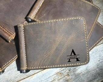 QUANTITY DISCOUNTS, cowhide leather wallet, leather wallet, personalized leather wallet, Personalized leather money clip, leather money clip