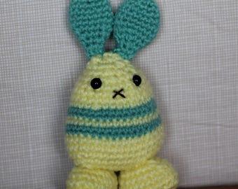 Handmade Amigurumi Crochet Yellow Rabbit