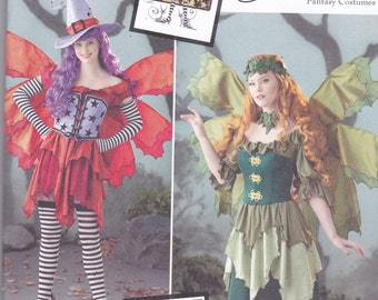 Simplicity 1550 Costume Pattern Womens Fairy Costume in Variations, Fantasy Costume Size 14,16,18,20,22 UNCUT