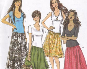 Butterick 5043 Vintage Pattern Womens Skirt in 4 Variations Size 14,16,18,20 UNCUT