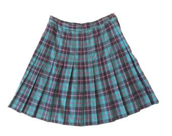 30% 0ff sALe 90s High Waisted Pleated Plaid Schoolgirl Skirt
