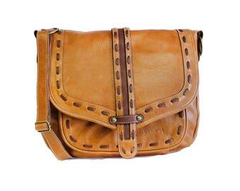 Leather bag women, brown crossbody bag - brown leather bag - beige leather purse, leather purse, shoulder purse, crossbody purse, brown bag