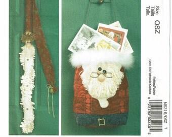 McCalls Crafts Pattern 6216 Santa Decorations UNCUT