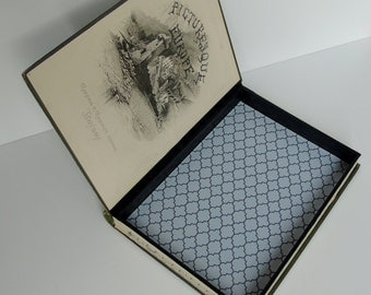 Hollow Book, Wedding Ring Box, Key Safe, Trinket Box: Picturesque Europe Antique