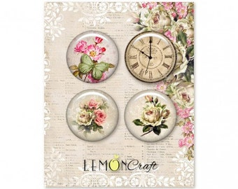 Lemoncraft House of Roses Buttons / Badges
