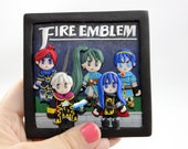 Fire Emblem Polymer Clay Portrait, Personalized Gift, Game Anime, Office Decor, Custom Portrait, Desk Decor, Gamer Gifts for him