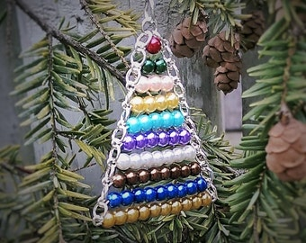 Montessori Ornament~Bead Stair, glass pearls, Montessori Materials, Best Teachers Gift