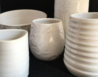 White planter collection  - pieces sold individually