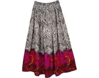 Animal Printed Tall Summer Skirt