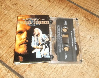 The Story Of MICHAEL SCHENKER Cassette Tape, Indonesia, Hard Heavy Metal Guitar Music God, UFO, Scorpions, Germany