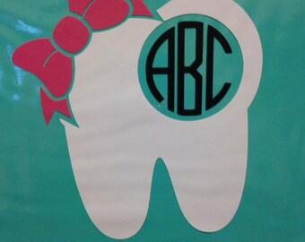 Dentist/Dental Assistant Vinyl Tooth Monogram