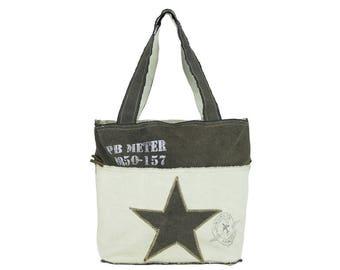 Sunsa woman Shopper Handbag canvas bag shoulder bag 51874