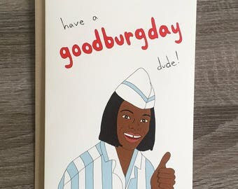 Goodburgday - Funny Birthday Card - 90s Birthday Card - Good Birthday Card - DUDE