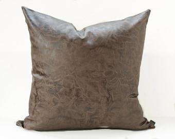 Leather cushion Etsy