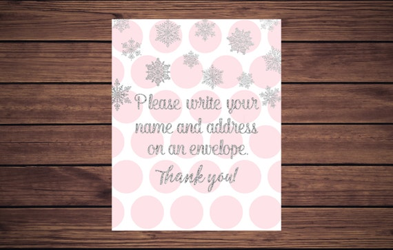 Address An Envelope Sign, Pink And Silver Please Write