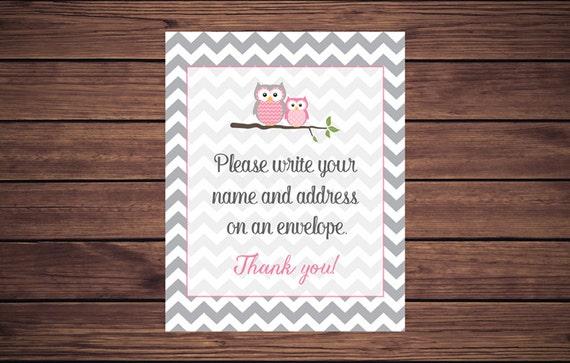 Address An Envelope Sign, Address An Envelope, Owl Please