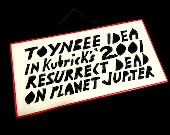 Wooden Toynbee Tile Replica Sign Resurrect Dead Handmade