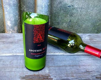 Red Wine Decor Soy Wax Candle Created From Upcycled Apothic Red 750ml Glass Bottle.