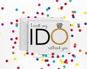 Will you be my Bridesmaid card - Card for Bridesmaid - I can't say I do without you - Bridal Party Card