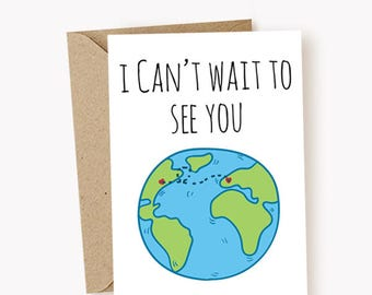 I Miss You Card - I Cant Wait To See You Card - Funny Greeting Cards - Missing You - Cards - Cute Cards - Long Distance Cards
