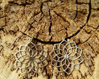 Flower Ethnic Indian Brass Earrings