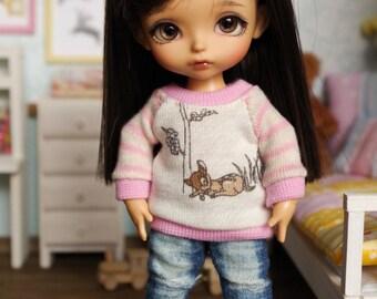 ElDollRado - Lati Yellow & Pukifee Bambi deer winter sweater, blouse, top