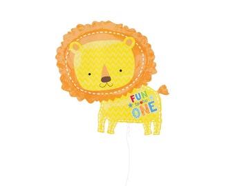 Lion One Wild Boy Balloon - Fun to be One Mylar