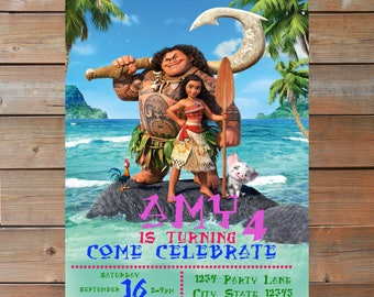 Moana Invitation - Personalized and Printable