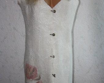 SALE! Felted vest, white vest, wool vest