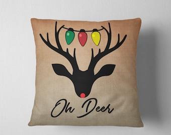 Christmas SVG, Rudolph SVG, Deer, Oh Deer SVG, Christmas Lights, Silhouette, Cameo, Cricut, Scan n Cut, Cutting Machine, Cut File