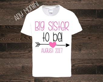 Big Sister shirt tshirt one piece bodysuit pregnancy announcement big Sister to be I'm going to be a big sister sis