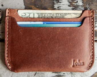 The Bradford Front Pocket Double Sleeve Mens Fine Leather Wallet with Rounded Corners