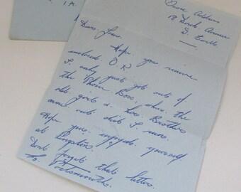 Vintage 1952 Handwritten Personal Letter - In stamped envelope