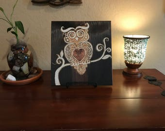 Carved Owl Home Decor Sign, Ready to Ship