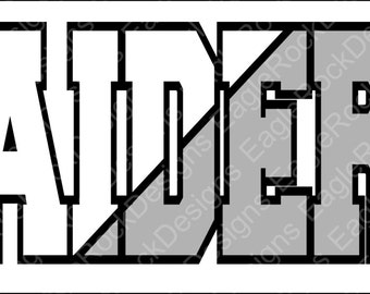 Raiders  SVG  DXF  EPS  Digital Cut File  Silhouette  Cricut  Mascot  Football  Vector File  Instant Download