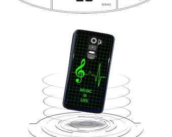 Music is Life heart monitor for Lg g5 Lg g4 Lg g3 lg g2 Lg L70 Lg L90 Phone Case