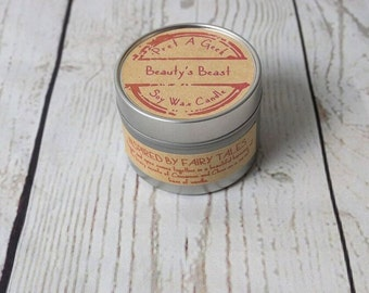 Fandom Candle ~ Beauty's Beast ~ Inspired by Beauty & The Beast the Fairy Tale ~ 4oz Soy Candle