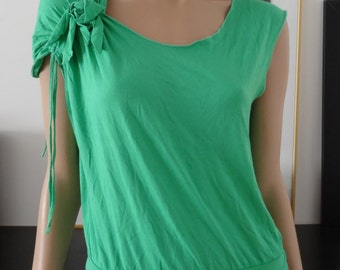 t-shirt vert DIABLESS fleur taille 38 - uk 10 - us 6
