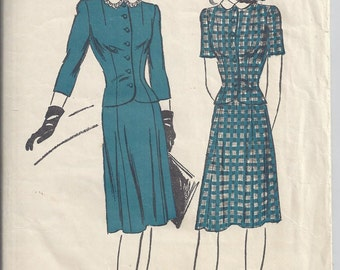 Vintage Advance Pattern #3289 1940's Ladies Blouse and Skirt.  Bust 30