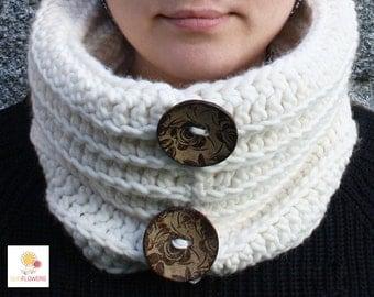 Soft wool handmade crochet neck warmer