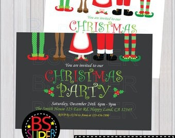 CHRISTMAS PARTY Invitation, CHRISTMAS Invitation